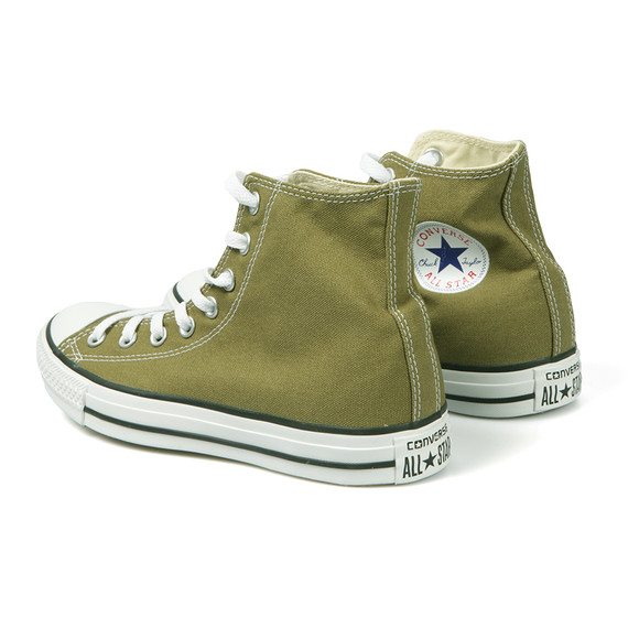 Converse Womens Green All Star Seasonal Hi Trainers main image