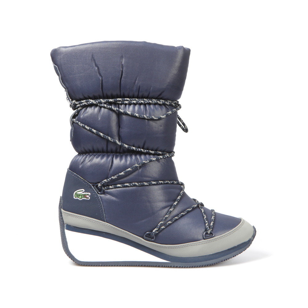 Lacoste arbonne ski womens winter boots blue red white