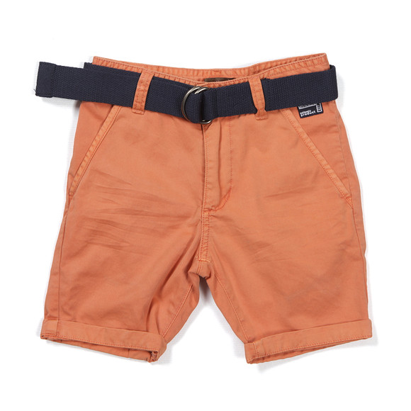 Timberland Boys Red Boys Chino Short With Belt main image