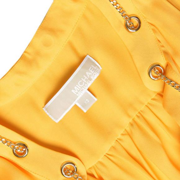 Michael Kors Womens Yellow Chain Neck Blouse main image
