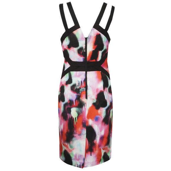 French Connection Womens Pink Miami Graffiti Strappy Dress main image