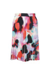 French Connection Womens Multicoloured Miami Graffiti Pleat Flare Skirt