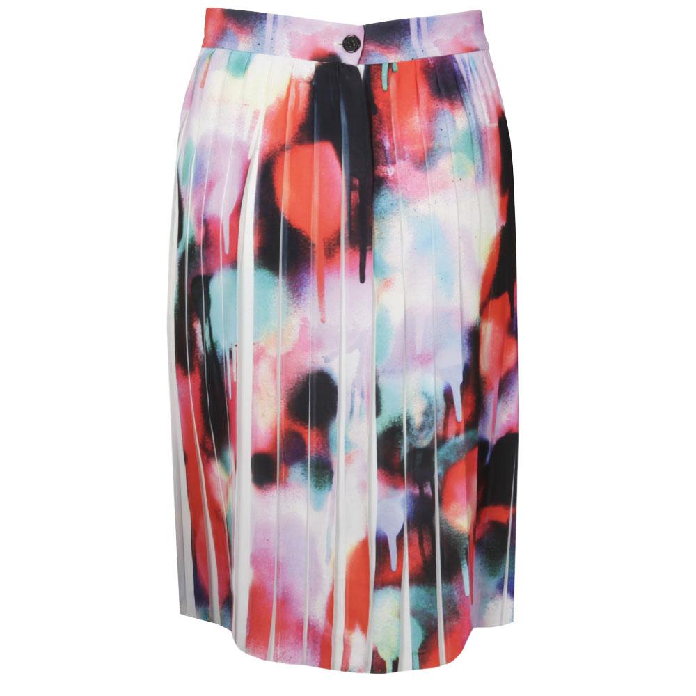 Miami Graffiti Pleat Flare Skirt main image