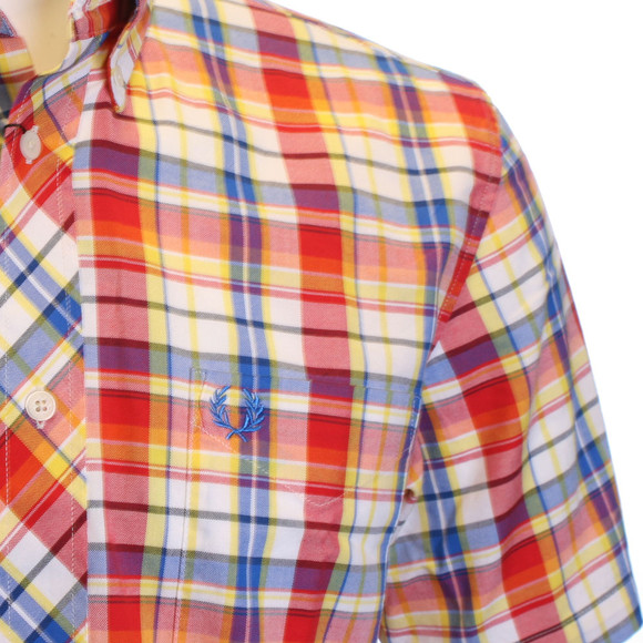 Fred perry madras check shirt oxygen clothing for Mens madras shirt sale
