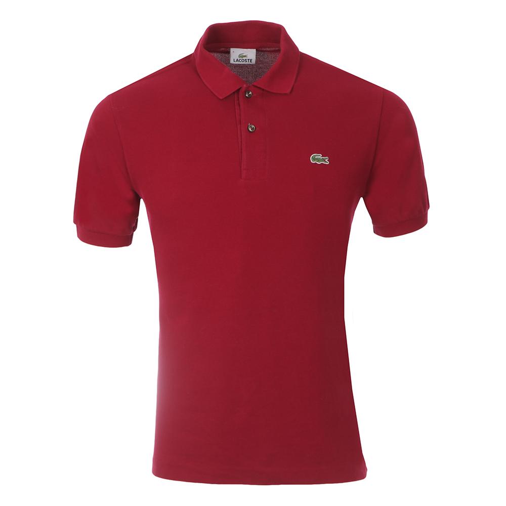 L1212 Bordeaux Plain Polo Shirt main image