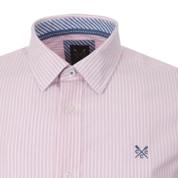 Crew Mens Pink L/S Classic Stripe Shirt main image