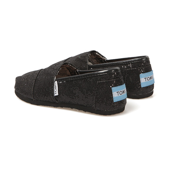 Toms Boys Black Toms Youth Classic Canvas main image