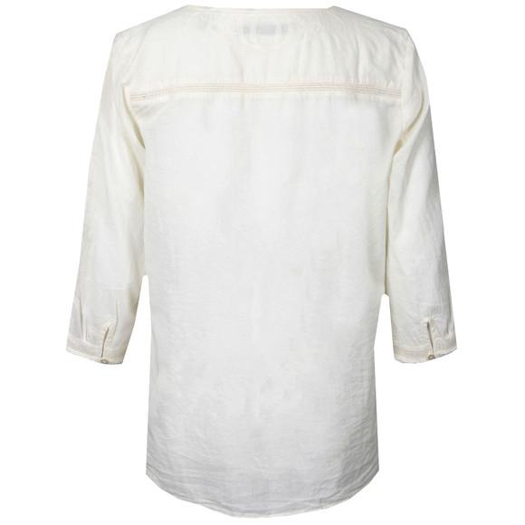 Maison Scotch Womens Off-white Cotton Tunic With Lace Inserts main image