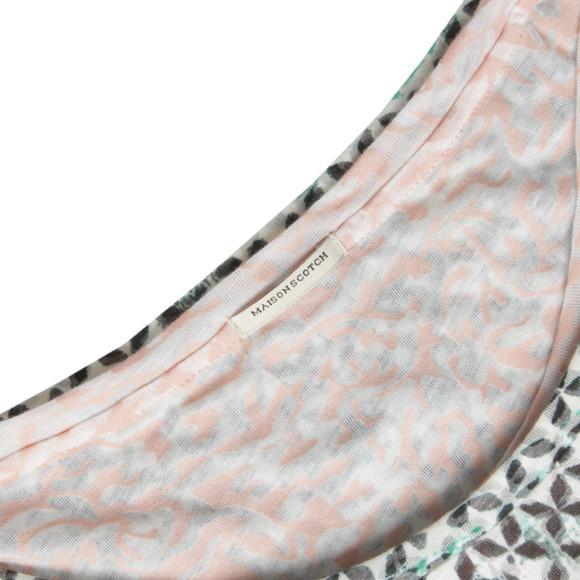 Maison Scotch Womens Multicoloured Reversible Burnout Tank main image
