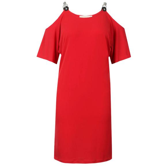 Michael Kors Womens Red MJ Cold Shoulder Dress main image