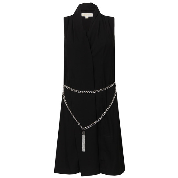 Michael Kors Womens Black Draped Front Dress main image