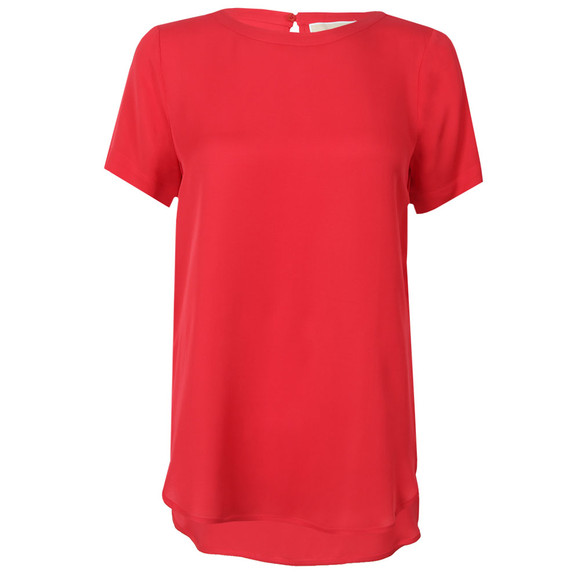 Michael Kors Womens Red Woven T Shirt main image