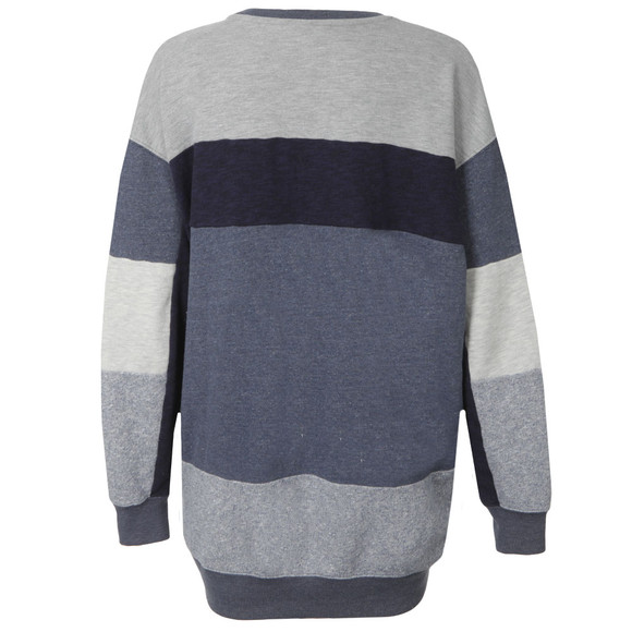 Maison Scotch Womens Blue Oversized Patchwork Sweater main image
