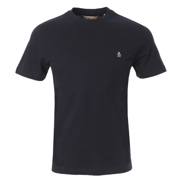 Original Penguin Mens Blue Pin Point Embroidered Logo T-Shirt main image