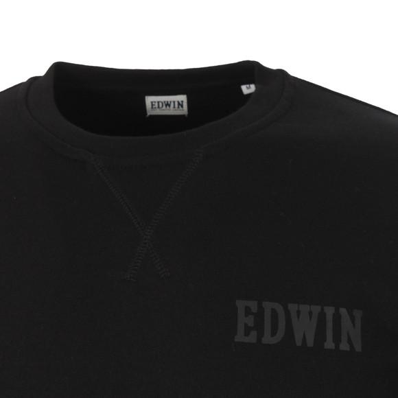 Edwin Mens Black Classic Logo Crew Sweat main image