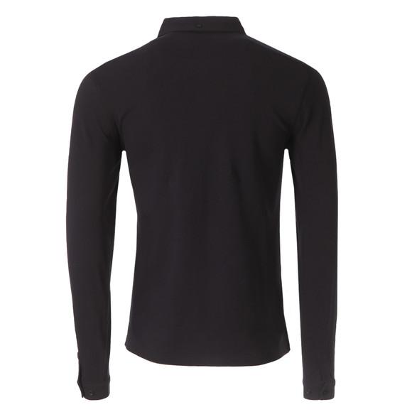 Farah Mens Black Merriweather L/S Polo Shirt main image