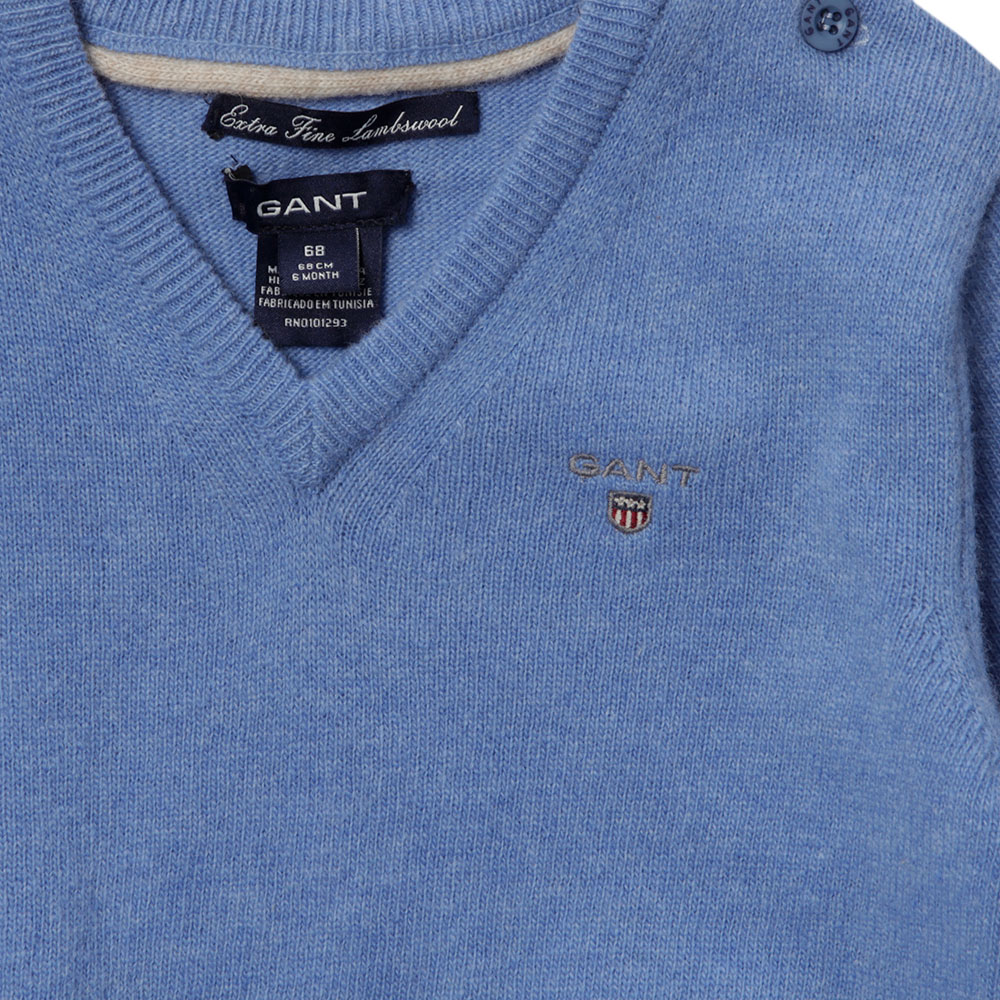 Baby Light Weight Lambswool V Neck Jumper main image