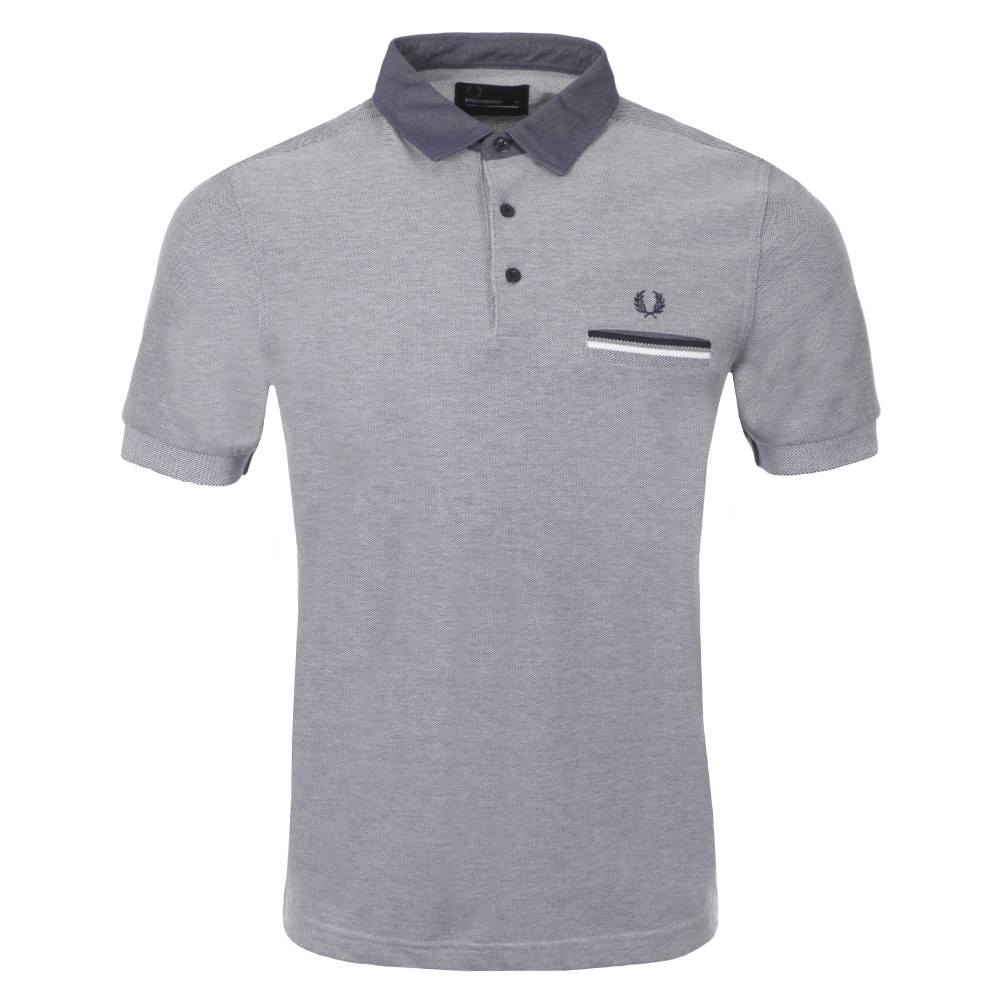 Slim Fit Woven Collar Polo
