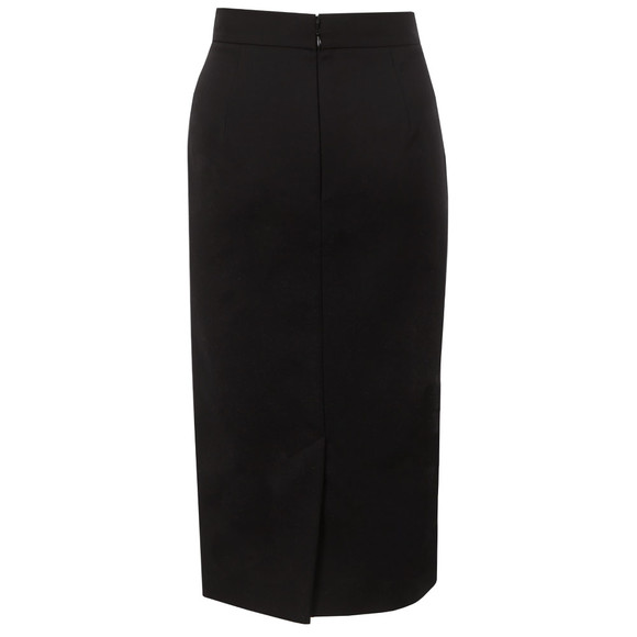 French Connection Womens Black Glass Stretch Pencil Skirt main image