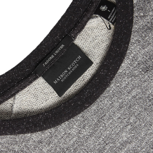 Maison Scotch Womens Grey Feminine Sweat In And Contrast main image