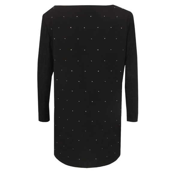 French Connection Womens Black Night Sky Polly Long Sleeve T Shirt main image