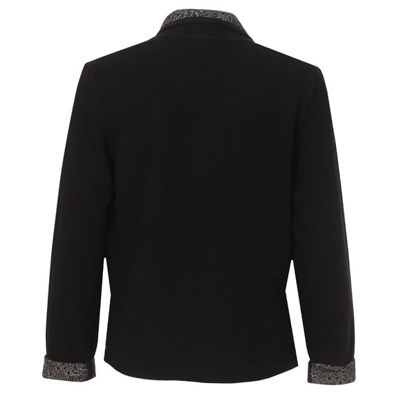 Maison Scotch Womens Black Slub Jersey Blazer main image