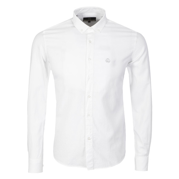 Duck & Cover Mens White L/S Harris Shirt main image