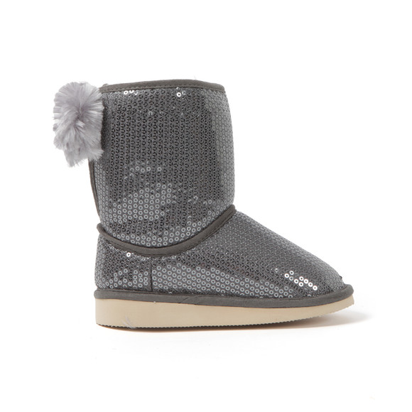 Billieblush Girls Grey Sequin Fur Lined Boot main image