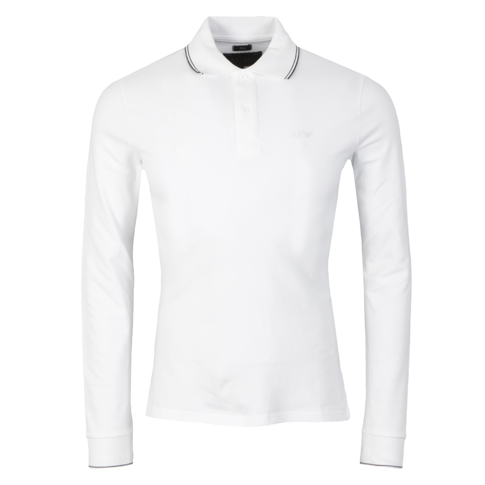 06M36 Long Sleeve Tipped Polo Shirt