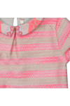 Billieblush Girls Pink Girls Stripe Collared Dress