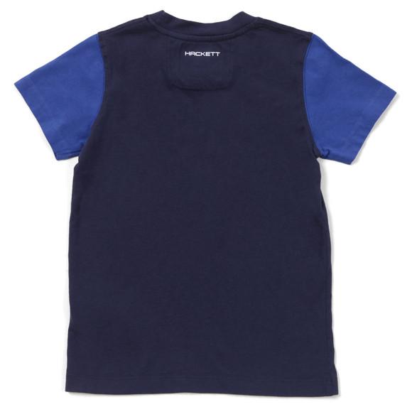 Hackett Boys Blue Aston Martin Racing Logo T Shirt main image