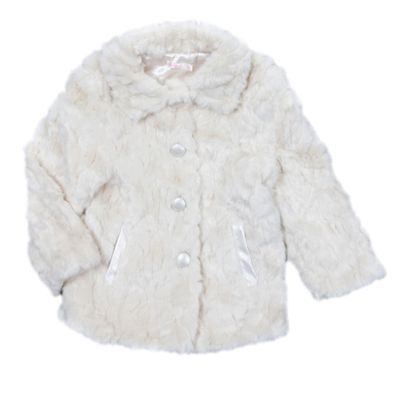 Billieblush Girls Off-white Girls Faux Fur Coat main image