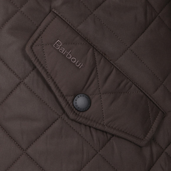 Barbour Lifestyle Mens Green Powell Quilted Jacket main image