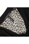 Maison Scotch Womens Black Long Sleeve Jersey Cowl Neck Top