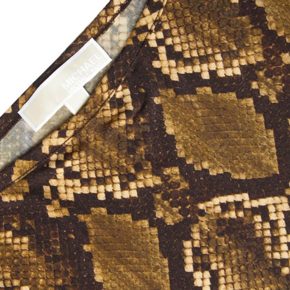 Michael Kors Womens Bronze Snake Print Dress main image