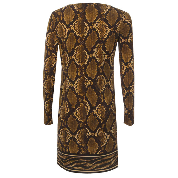 Michael Kors Womens Bronze Snake Print Dress main image