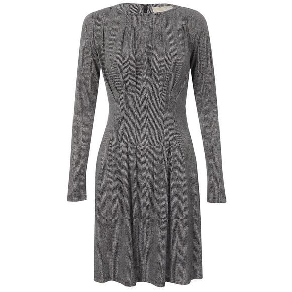 Michael Kors Womens Black Lansown Pleat Dress main image