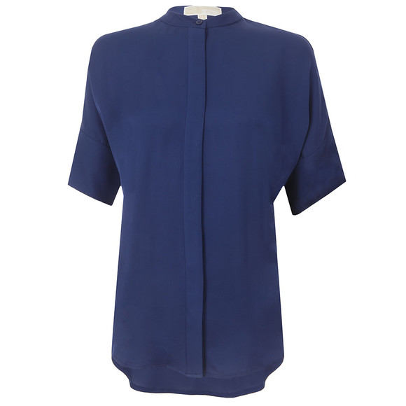 Michael Kors Womens Blue Button Down Shirt main image