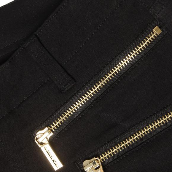 Michael Kors Womens Black Rocker Zip Skinny Pant main image