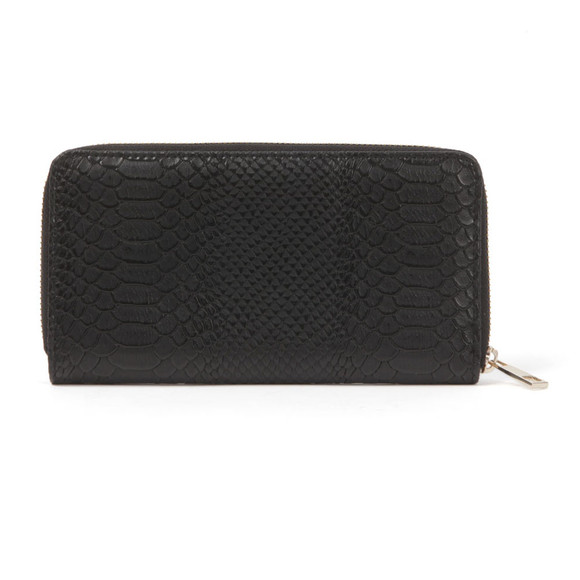 Mi Pac Womens Black Python Zip Purse main image