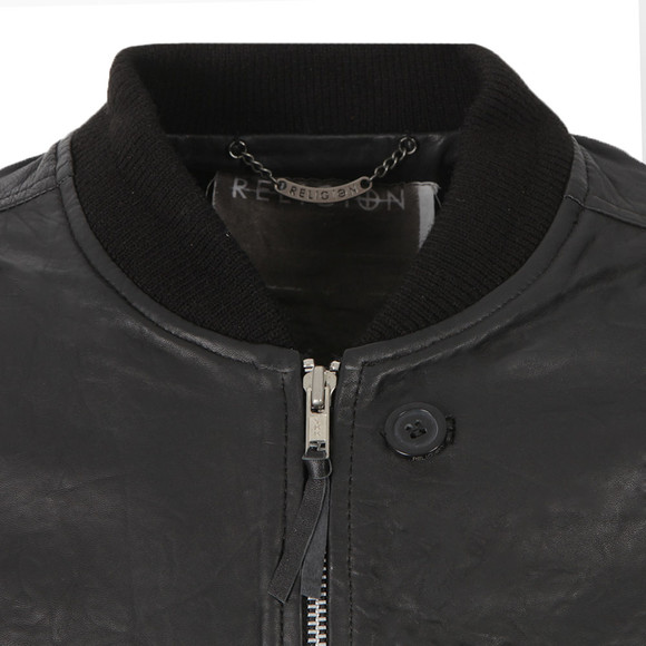 Religion Mens Black Leven L/S Leather Jacket main image