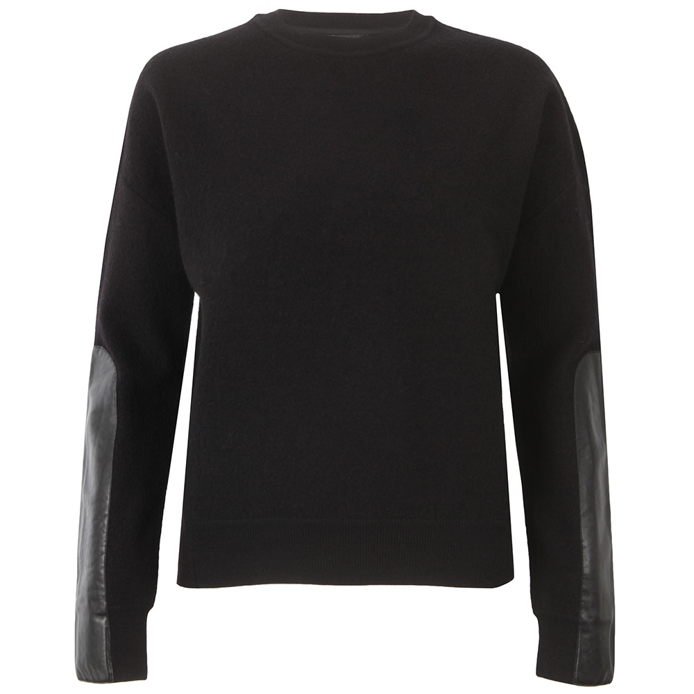 Phillia Leather Trim Sweater main image