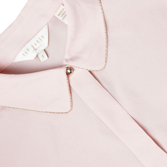 Ted Baker Womens Pink Caresse Silver Chain Detail Shirt main image