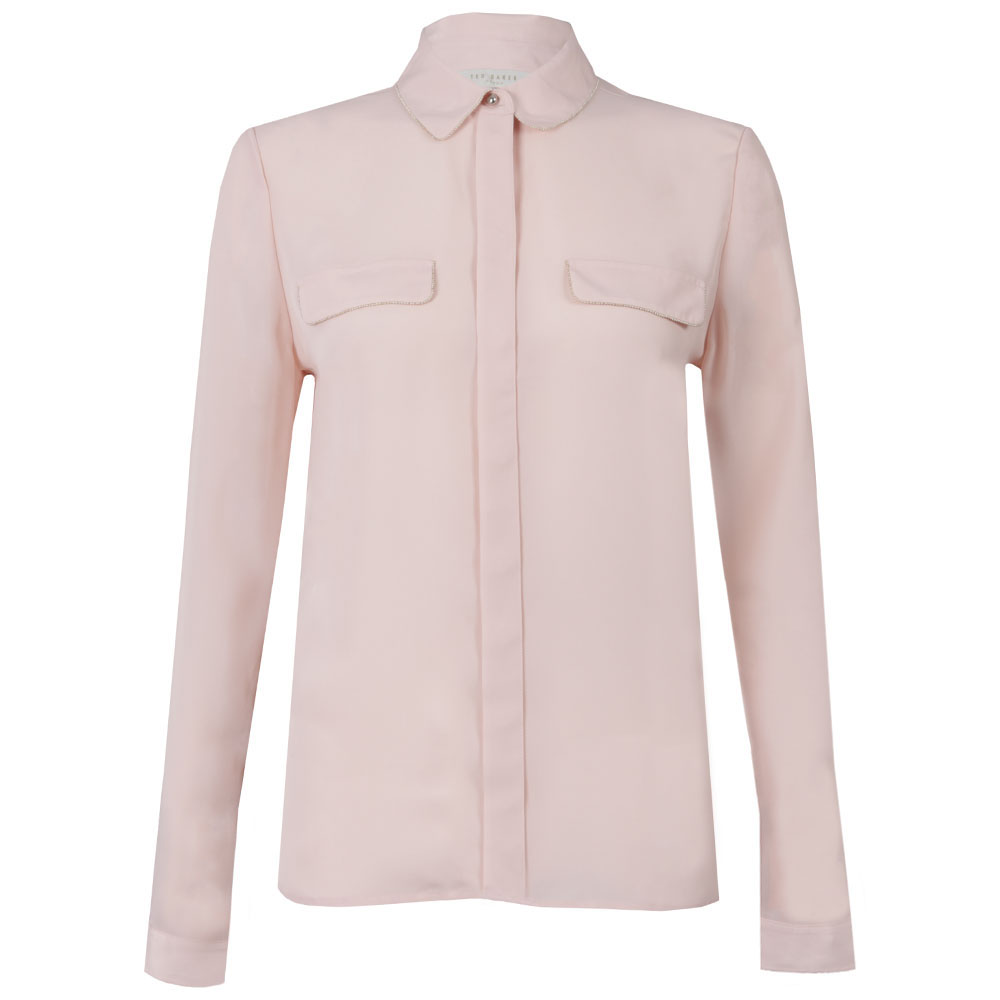 a1ec76ace176c0 Ted Baker Caresse Silver Chain Detail Shirt