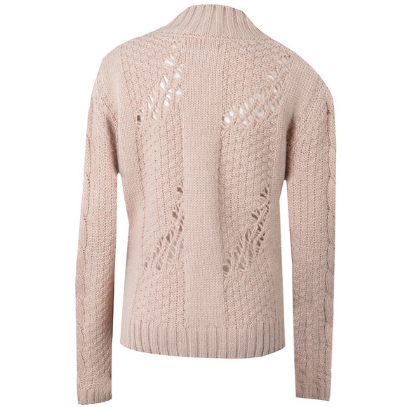 Barbour International Womens Beige Katana Cable Knit Jumper main image