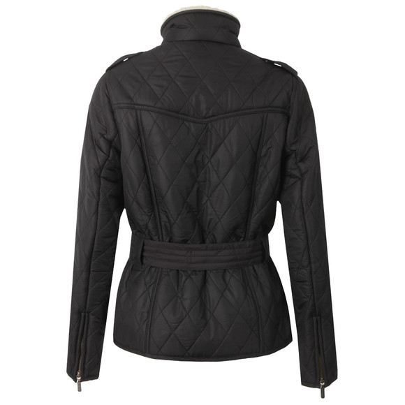 Barbour International Womens Black Matlock Quilted Jacket main image