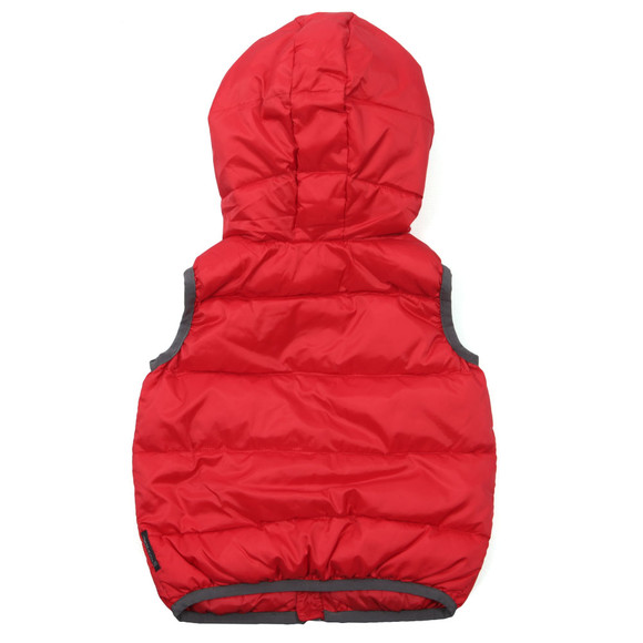 Armani Baby Boys Red BDL01 Gilet main image