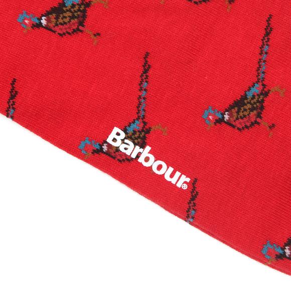 Barbour Lifestyle Mens Red Mavin Phesant Socks main image