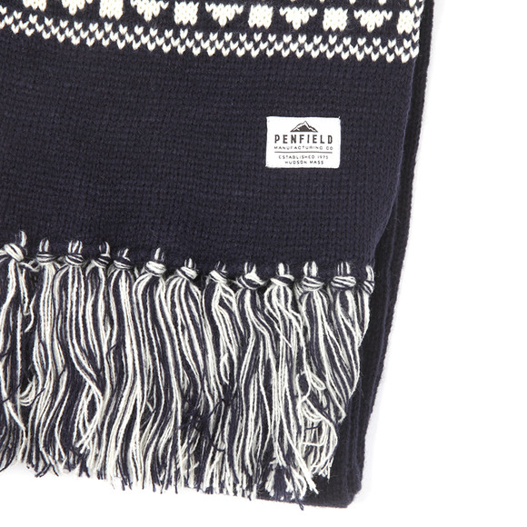 Penfield Mens Blue Fairwood Fairisle Scarf main image