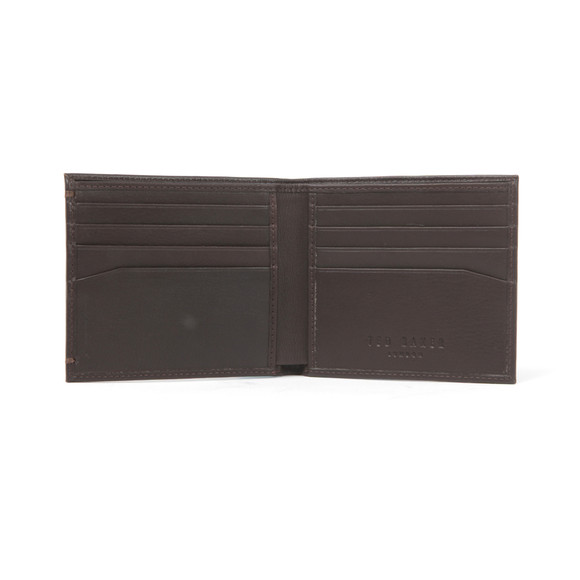 Ted Baker Mens Brown Core Bi-fold Leather Wallet main image